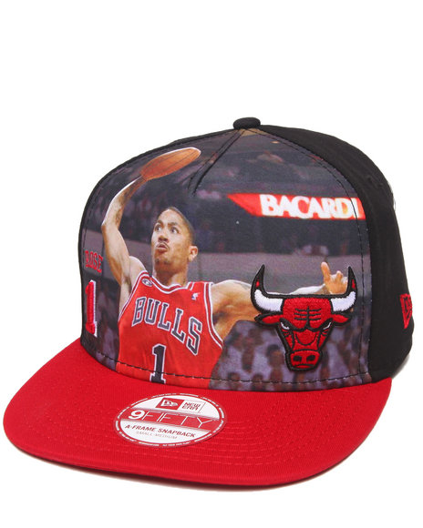 New Era - Men Red Chicago Bulls Derrick Rose Face Of A Champ 950 Snapback Hat