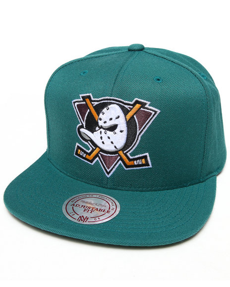 Mitchell & Ness Men Mighty Ducks 20Th Anniversary Snapback Hat Teal - $35.00