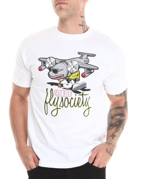 Flysociety White Fly Bomber T-Shirt