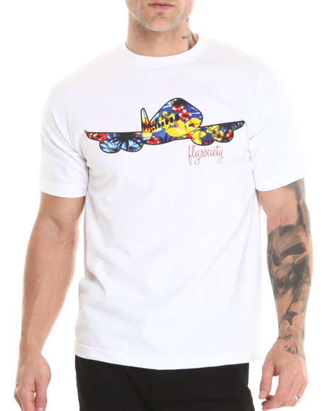 Flysociety White Layover T-Shirt