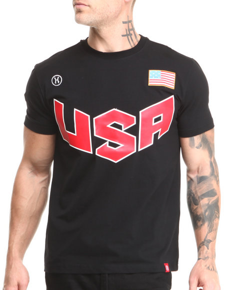 Hudson Nyc - Men Black U S A Patriot S/S Tee