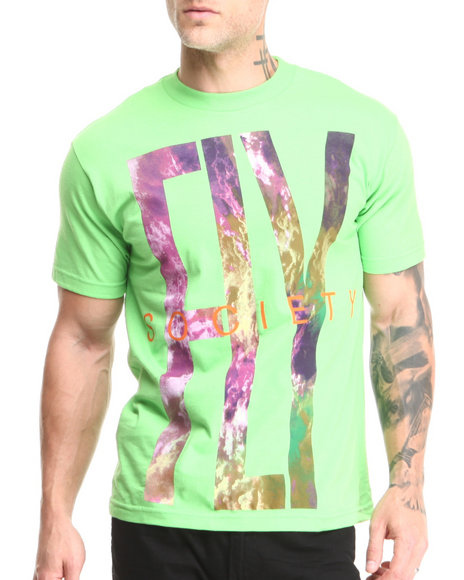 Flysociety Green Clouded T-Shirt
