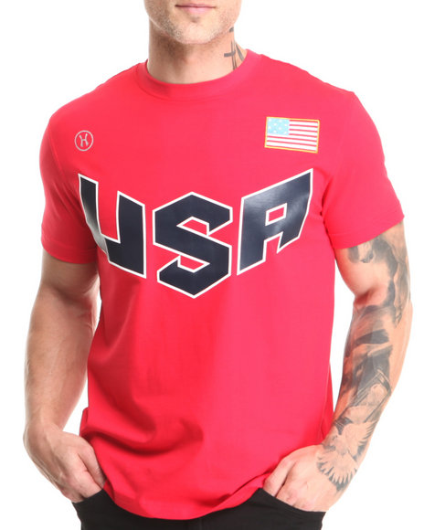 Hudson Nyc - Men Red U S A Patriot S/S Tee