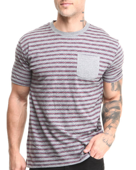 Beautiful Giant Grey Beautiful Giant Invasion Jacquard Knit S/S Tee