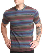 Men - Beautiful Giant Blurred Lines Jacquard Knit S/S Tee