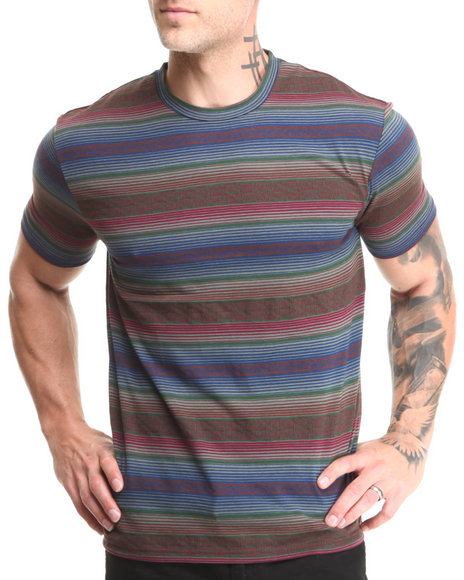 Beautiful Giant Olive Beautiful Giant Blurred Lines Jacquard Knit S/S Tee