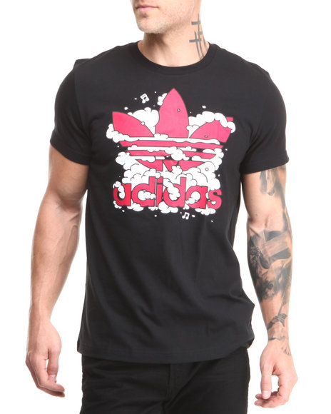 Adidas Black Dub Cloud Graphic Tee