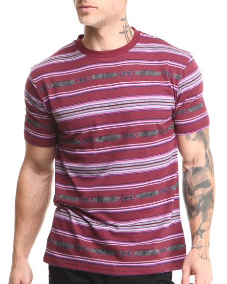 Beautiful Giant Maroon Beautiful Giant Navajo Horizon Jacquard Knit S/S Tee