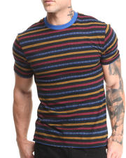 Men - Beautiful Giant Primary Lines Jacquard Knit S/S Tee