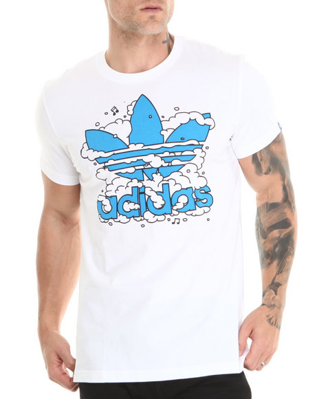 Adidas White Dub Cloud Graphic Tee