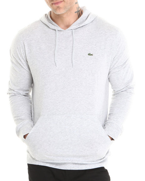Lacoste Grey Jersey Hoodie