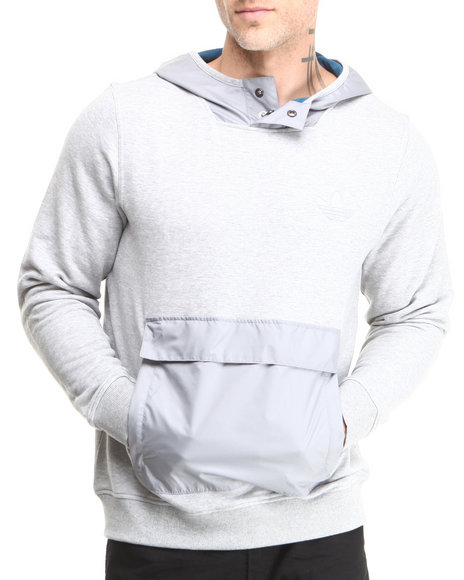 Adidas Grey Fabric Mix Hoodie