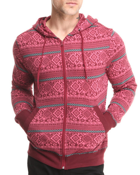Beautiful Giant Red Beautiful Giant Diamond Aztec Jacquard Hoodie