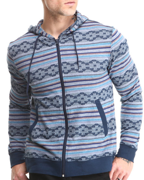 Beautiful Giant Navy Beautiful Giant Diamond Aztec Jacquard Hoodie