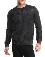 Hudson NYC - Ryder Denim Knit Crewneck Sweatshirt
