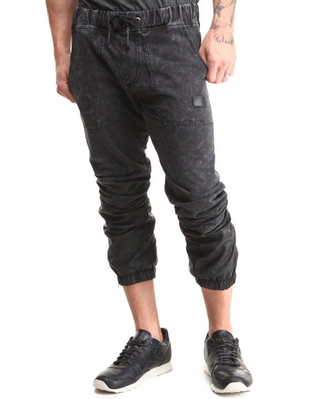Hudson NYC Black Ryder Denim Knit Jogger Pants