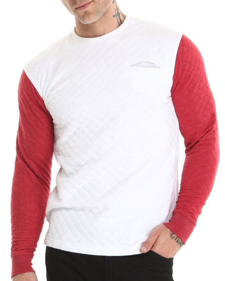 Live Mechanics White Lm Quilted Sweatshirt