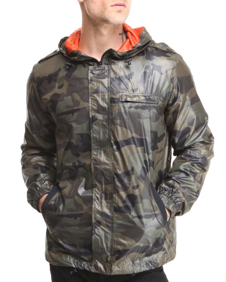 Beautiful Giant Olive Beautiful Giant Camo Poly Mesh Lined Windbreaker