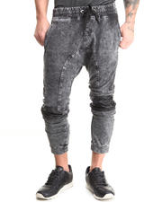 Men - Denim Knit Drop Jogger Pants