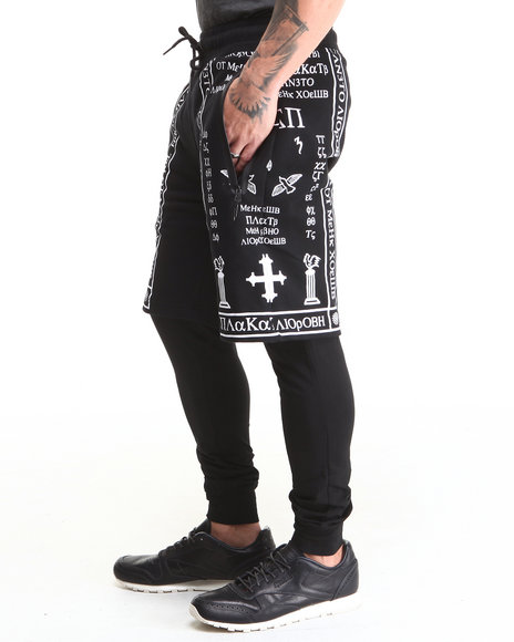 Hudson NYC Black Chapel Layered Shorts