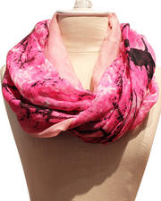 Accessories - Gradient Trees Voile Scarf