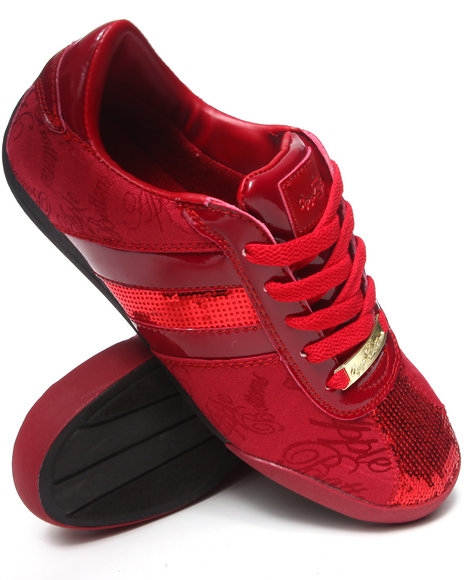 Apple Bottoms - Women Red Amore Patent Trim Sneaker - $12.99