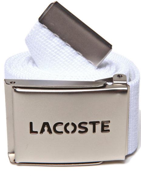 Lacoste White Green Croc Belt