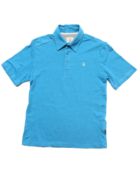 Volcom Boys Blue Wowzer Polo (8-20)