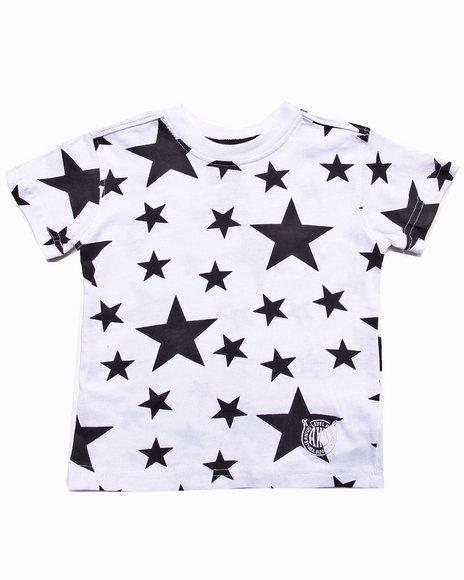 Akademiks - Boys White Allover Star Print Tee (2T-4T)