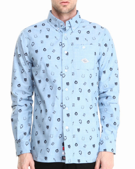 Parish - Men Blue Ucla L/S Button-Down
