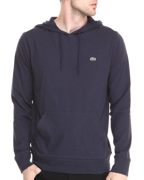 Lacoste Navy Hooded Jersey Tee