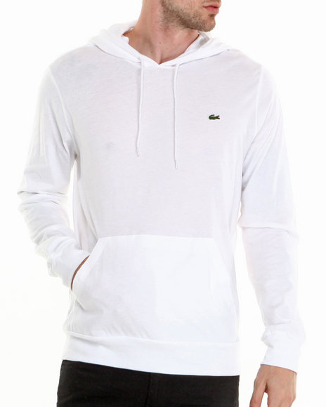 Lacoste White Hooded Jersey Tee
