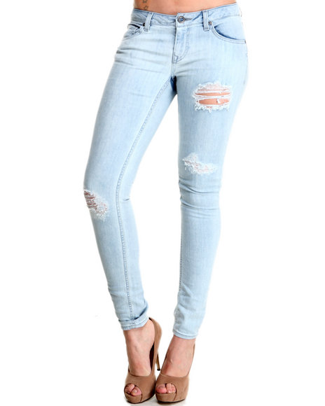 Volcom - Women Light Wash Stix Skinny Jeans