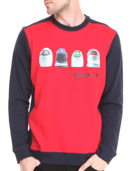 Adidas - Men Red Heel Tab Crew Sweatshirt