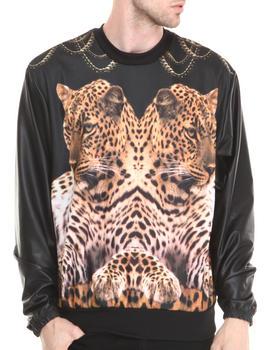 Buyers Picks - Twin Killers Sublimation sweatshirt w/ Faux leather sleeves