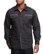 Basic Essentials - ILink Muted Plaid Woven Shirt