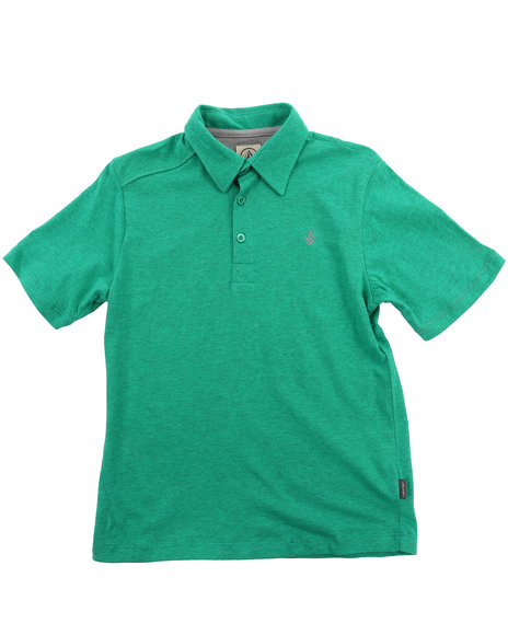 Volcom Boys Green Wowzer Polo (8-20)