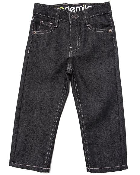 Akademiks - Boys Black Fanback Signature Jeans (2T-4T)