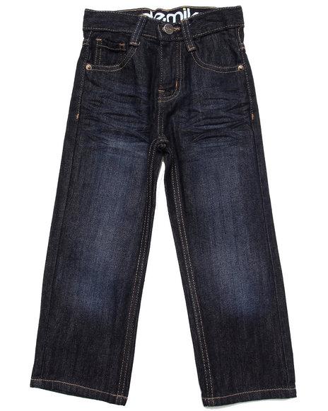 Akademiks - Boys Dark Wash Fanback Signature Jeans (4-7)
