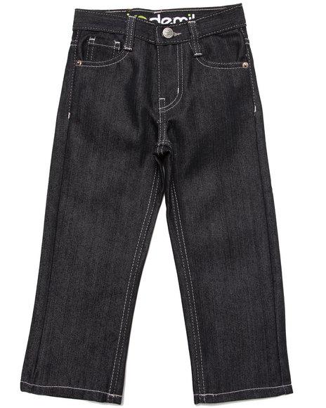 Akademiks - Boys Black Fanback Signature Jeans (4-7)
