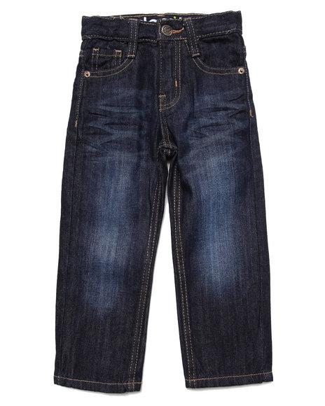 Akademiks - Boys Dark Wash Fanback Signature Jeans (2T-4T)