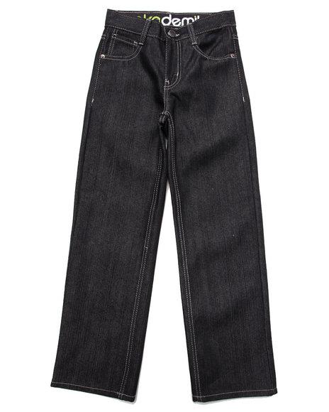 Akademiks Boys Black Fanback Signature Jeans (8-20)