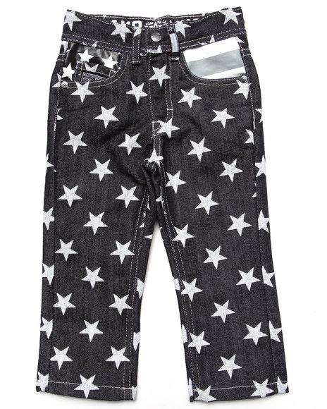 Akademiks Boys Black Americana Jeans (2T-4T)