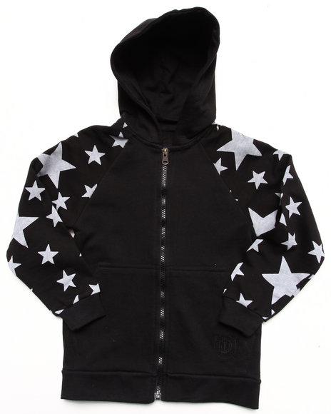 Akademiks Boys Black All-Over Star Print Hoodie (4-7)