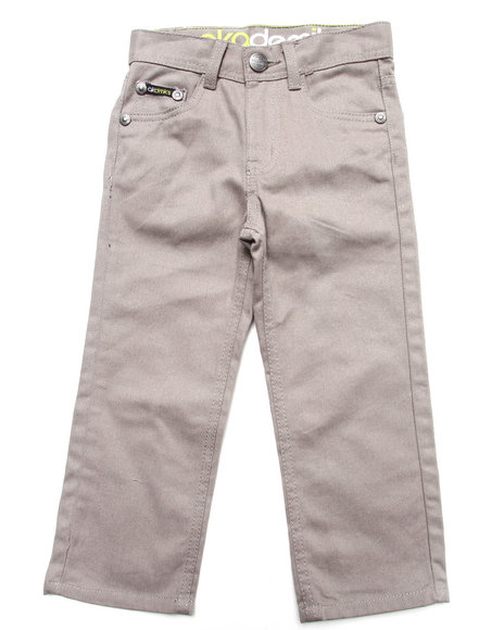 Akademiks Boys Grey Colored Twill Jeans (4-7)