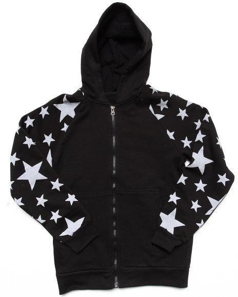 Akademiks Boys Black All-Over Star Print Hoodie (8-20)