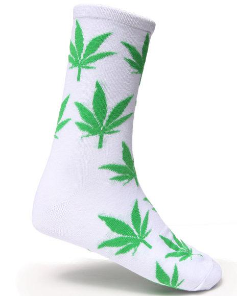 Basic Essentials Men Leaf Socks Green