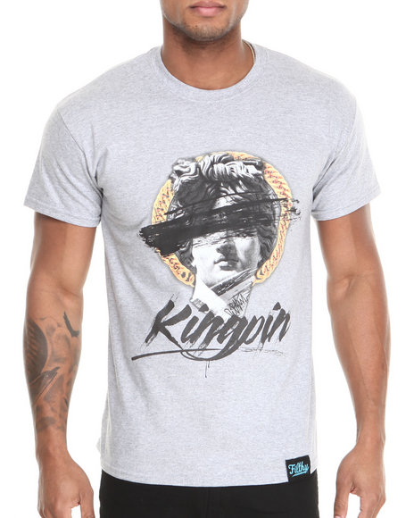 Filthy Dripped - Men Grey Kingpin T-Shirt - $15.99