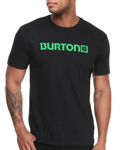 Burton Black Logo Horizontal Tee