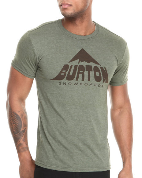 Burton Olive Mckinley Recycled Slim Fit Tee